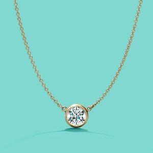 Tiffany 18k Diamonds By The Yard Necklace Pendant
